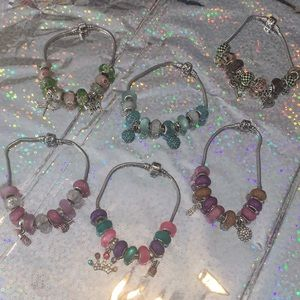 Jewelry - Custom bracelets with Moroccan beads and charms😍